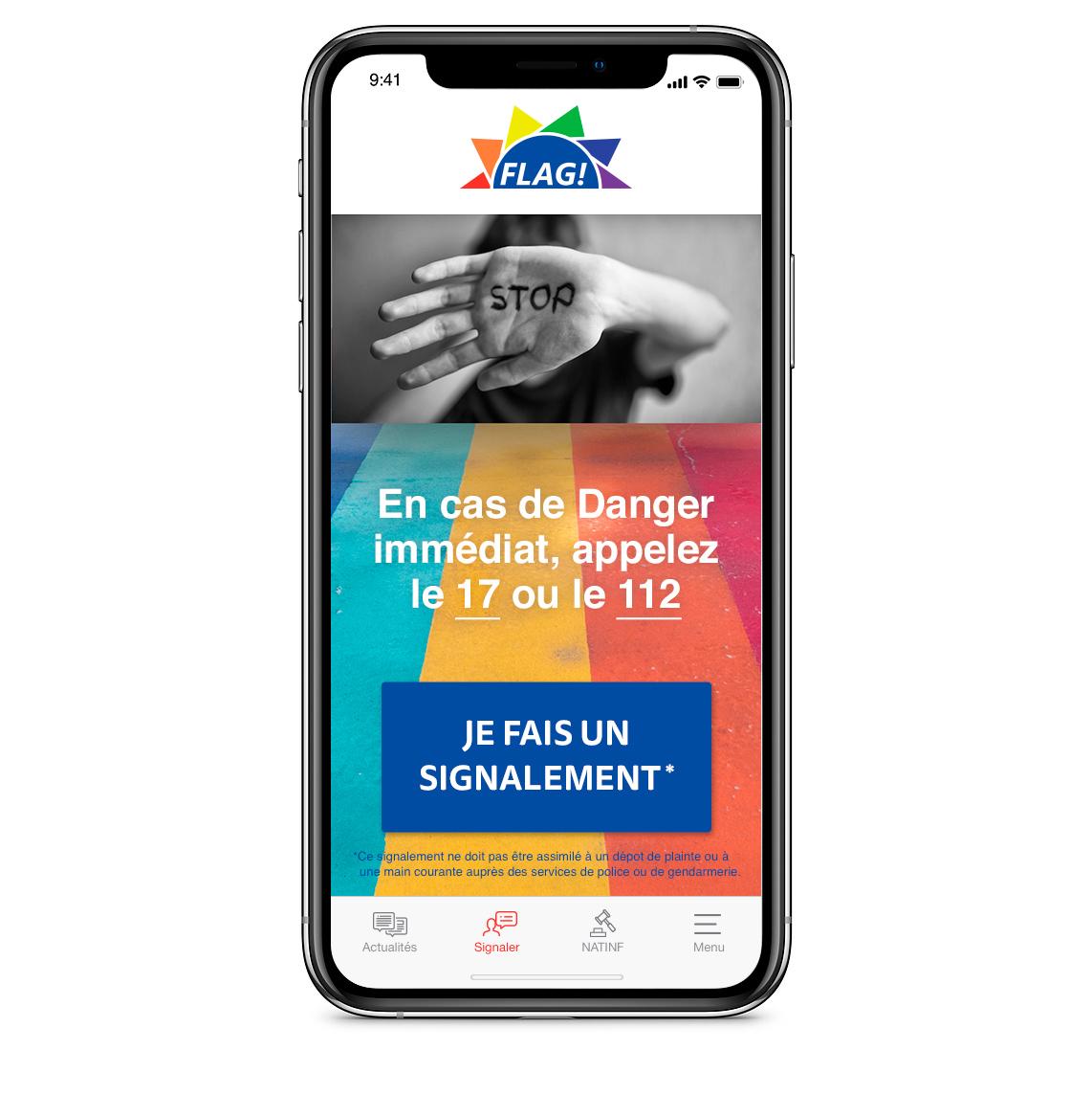 Lancement de l'application mobile FLAG!
