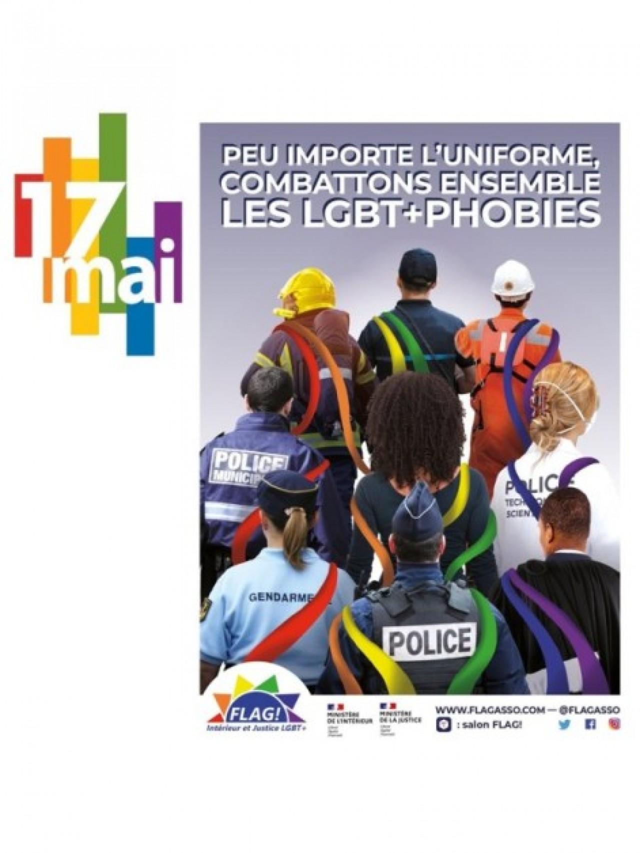 17 mai 2021 - Journée mondiale de lutte contre l'homophobie et la transphobie